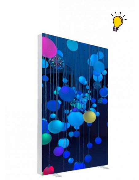 installation Totem lumineux Recto/Verso 60x170cm
