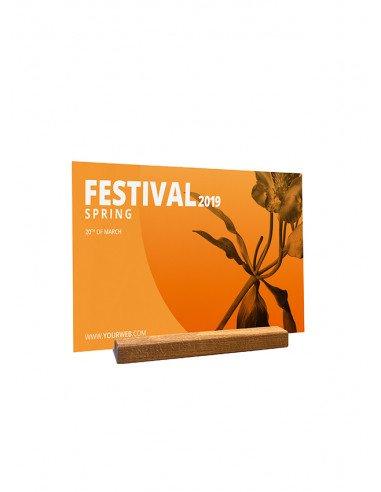 Porte Menu en bois format A4.